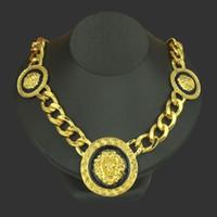 유럽과 미국 품목,유행 횡포하는 힙합 합금 똑똑 떨어지는 기름 사자 맨 위 necklace60