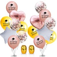 Students Congratulate Graduation Balloons Rose Gold Confetti...