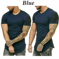 Uomo Fitness camicia stretta T Palestra Tee Estate manica corta Plain Top Camicetta M-5XL