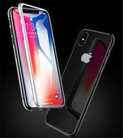 Магнитный Магнит адсорбции металла жесткий чехол для iPhone X 8 Plus 7 6 6 S + стекло задняя крышка для iPhone Xs Max Xr