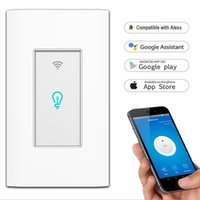Telecomando WiFi Smart Light Switch App mobile Telecomando No Hub Richiede opere con Amazon Alexa Google Home