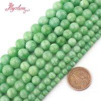 """6.8.10mm Yeşil Jadeite'nin Jades Yuvarlak Strand 15"""" Ücretsiz Kargo Yapımı Kolye Bilezik DIY Kadın Takı için Taş Boncuk Smooth"""