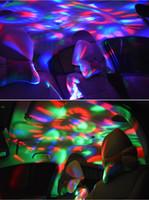 USB 미니 디스코 빛, 파티 조명 활성화, 할로윈 DJ 디스코 무대 조명 - 멀티 컬러 LED 자동차 분위기 빛,