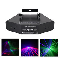 AUCD DJ 6 Lente RGB Beam Network Wondeful DMX Laser Etapa Iluminación Home Wedding Holiday Party Show Proyector Efecto de luz A-X6