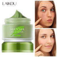 Laikou matchta masque boue faciale huile de contrôle de la boue nettoyage hydratant pore nettoyage de boue masque de visage de la peau propre propre