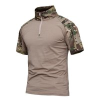 Summer Camouflage T- shirt Men Tactical Army Combat Quick Dry...