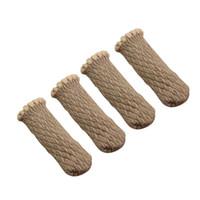 의자 커버 두꺼운 뜨개질 양모 레이스 피트 커버 스트랩 다리 바닥 보호자 가구 안티 스키드 캡 양말 * 4
