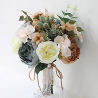 Bridal Bridesmaid Wedding Holding Bouquet Artificial Flower ...