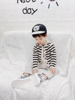 2020 Nueva llegada High Swilty Autumn Spring Baby Kids Cardigan con pantalones de camisa y sombrero Baby Girl Boys Muchachos Conjuntos de ropa de otoño