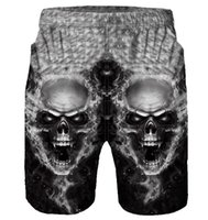 Skull 3D Print Board Pantaloncini Beach Summer Men Hip Hop Traspirante Quick Dry Sportswear Surf Trunks Costumi da bagno Sunbath Short Pants