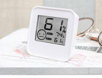 Thermomètre numérique hygromètre Ecran LCD Température intérieure Capteur d'humidité mètre Humidimètre blanc DC205 dans l'emballage SN459