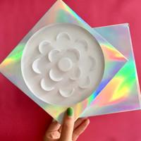 Benutzerdefinierte Wimpern Verpackung holographische Box Fit 7 Paare / Satz leere Wimpern Fällen günstigen Preis FDshine
