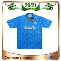 1991/1993 Retro-Version Napoli Fussball Jersey 91/93 Home # 10 Maradona-Hemd Kurzarm Fußballuniform