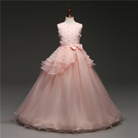 Brand New Flower Girl Dresses White Pink Party Pageant Commu...