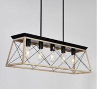 Moderne métal rectangulaire lustres d'éclairage pour Salon Salle à manger Hôtel restaurant Suspension Luster