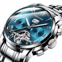 8d168d2779cf VENTA CALIENTE Tevise Relojes mecánicos automáticos Relojes de pulsera para hombre  Reloj de acero Moon Phase