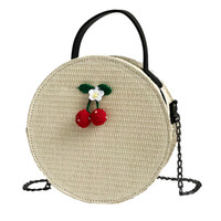 Vintage Straw Bags For Women Rattan Crossbody Bags Simple We...
