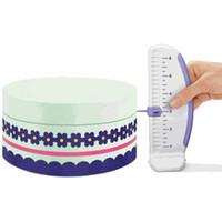 케이크 눈금자 플라스틱 케이크 마커 DIY 장식 눈금자 레벨러 실내 장식 화환 국경 액세서리 베이킹 게이지 도구
