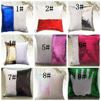 Sequin Mermaid Kissenbezug Kissen magische Glitter Dekokissen Fall Startseite dekorative Auto Sofa Pillowcase 40 * 40cm