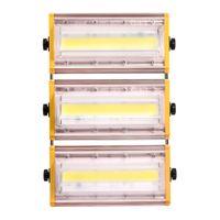 Modul LED-Flutlicht 50W 100W 150W Wasserdichtes IP65 Außen 110V Flutlicht Warm / kühles weißes Licht Lde Garten Außen Balkon Bühnenscheinwerfer US