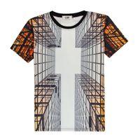 Spécial Creative Design 3D Print Hommes T-shirt d'été Novelty Hauts Verre Trempé 3d drôle T-shirt court Hommes Harajuku Geek Chemise Homme