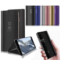 Espejo Flip Funda para Samsung Galaxy M20 S10 S10 S10 Plus S10e A9 A9 Star A6S A8S A7 A6 A8 +
