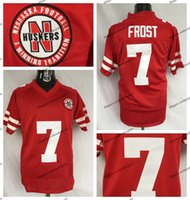 Mens Scott Frost Nebraska Huskers College Football Trikots billig # 7 Scott Frost Nähte Universität Fußballhemden S-XXXL