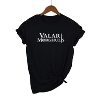 Valar Morghulis T Shirt Donna T-Shirt Cotton Tshirt Abbigliamento Summer Top GOT Tee Plus Size