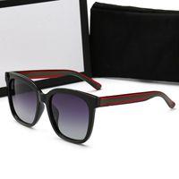 0034 Diseñador de la marca NUEVO Marco marrón Gafas de sol polarizadas Gafas de sol de playa DEPORTE lujosos hombres mujeres gafas de sol con caja