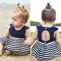 Newborn Baby Girls New Summer Strip A line Party Princess Pa...