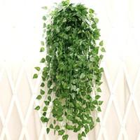 Балкон лофт декор зеленый редис завод виноград плющ лист искусственный цветок настенный ротанг Виноградная гирлянда DIY украшения венок