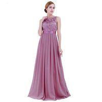 Spitze Chiffon Lange Brautjungfernkleider 2019 Neue Designer Hochzeit Brautspartei Formale Kleider Frauen Maxi Kleider Blush Pink Mint