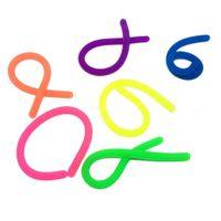 100pcs novidade Descompressão Corda TPR Fidget abreagir Flexível Glue Noodle Ropes elástico cordas Neon Slings Crianças Adulto Brinquedos 18 * 1 centímetro