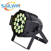 Sailwin 18x18w luz LED 6en1 6en1 RGBWA + UV LED DMX512 Par Can DJ etapa del LED luz de la igualdad para el club de eventos