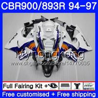 kit para HONDA CBR900RR CBR 893RR 1994 1995 1996 1997 Fábrica del cuerpo blanco 260HM.23 CBR 893 CBR900 RR CBR893 RR CBR893RR 94 95 96 97 Carenado