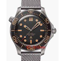 Lüks Erkek Otomatik hareketi Mekanik Paslanmaz Çelik Sürücü 300m 007 James Bond usta nato Tasarımcı saatı Saatler 2020