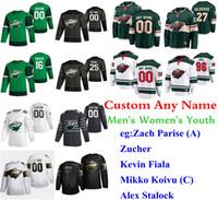 S-6XL 2020 All-Star Game de hockey Minnesota Wild jerseys Gerald Mayhew Jersey Victor Rask Mats Zuccarello Matt Bartkowski cosido personalizada