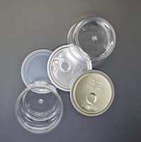 OEM 3. 5g Clear PET Jar Can for Flower Dry Herb Ring Pull Alu...