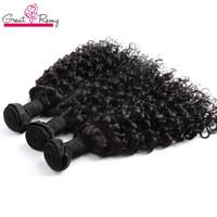 GreatRemy® Water Wave Extensión del cabello brasileño Big rizado 100% sin procesar Virgin Humanhair Bundle 3pcs / lote Dyable Ocean Hairweave