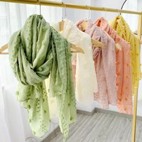 Flor de lino de algodón de la bufanda el 180 * 80cm 12 colores otoño invierno Pashmina bufandas de la manera del color del caramelo Mujeres Chales OOA8185