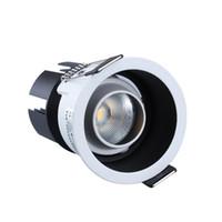 5W 7W 10w levou para baixo COB luzes de alta qualidade downlights super brilhante teto rebaixado lâmpadas AC 110-240V levou luminárias de teto