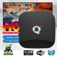 Q + Puls Smart Box Allwinner H6 Quad Core android9.0 TV-Box 4 GB Ram 32 GB Rom Unterstützung 6K HDMI2.0 WiFI Media Player