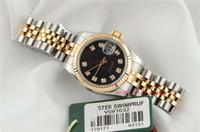 179171 reloj de lujo 2019 de las mujeres de alta calidad en oro rosa / de acero escala del diamante de 26 mm de diámetro de línea 31mm damas mecánicos automáticos