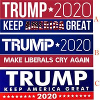 Donald Trump 2020 Car Stickers 7. 6*22. 9cm Bumper Sticker Kee...