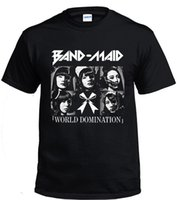 BAND MAID - WORLD DOMINATION Black Men T- shirt Size S- 3XL Sh...