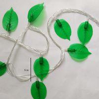 10m fabbrica 100 LED Green Leaves ha condotto la luce della stringa di Fata Natale della lampada per la casa Interni Esterni Garden Party Wedding Cortile LED
