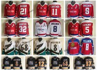 Vintage Washington Capitals 5 Rod Langway 21 Maruk 11 Mike Gartner Dale Jäger Ovechkin Jaromir Jagr 37 Kolzig 12 Jeff Friesen-Eishockeytrikot
