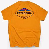 Мода высокого качества Патагонии S - 3XL Tee от дизайнера Марка лета Топы с коротким рукавом футболки мужские Топы Рубашки поло