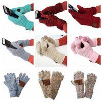 Knitting toque Luva Tela Luvas capacitivos Mulheres de Inverno Luvas de lã quente presentes antiderrapante malha Telefingers Luva Natal LJJA3181