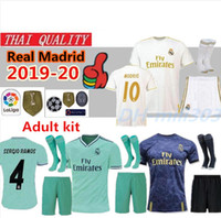 19 20 Real Madrid HAZARD Trikot Uniformen für Erwachsene 2019 2020 VINICIUS JR ASENSIO MODRIC Madrid EA Sports Football Trikots
